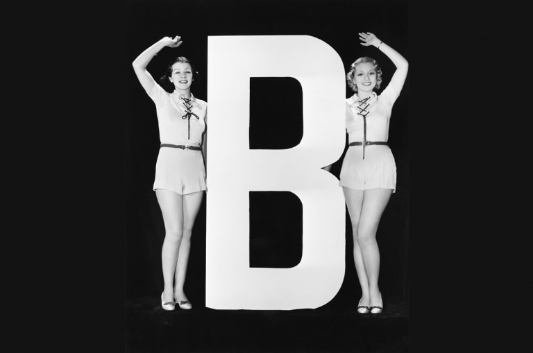 Ladies with large letter B